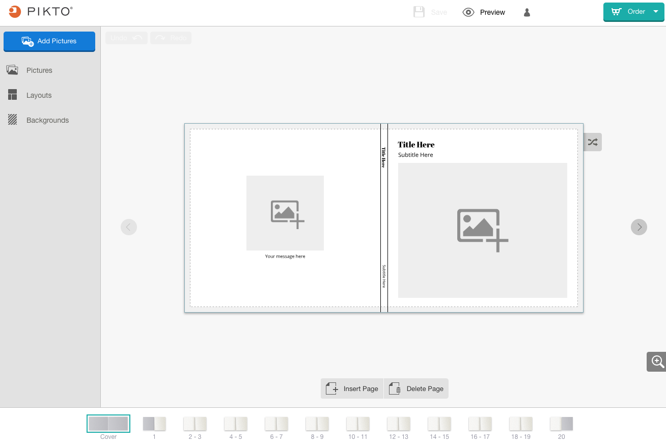 Screenshot of the Easy Editor on a large screen device.