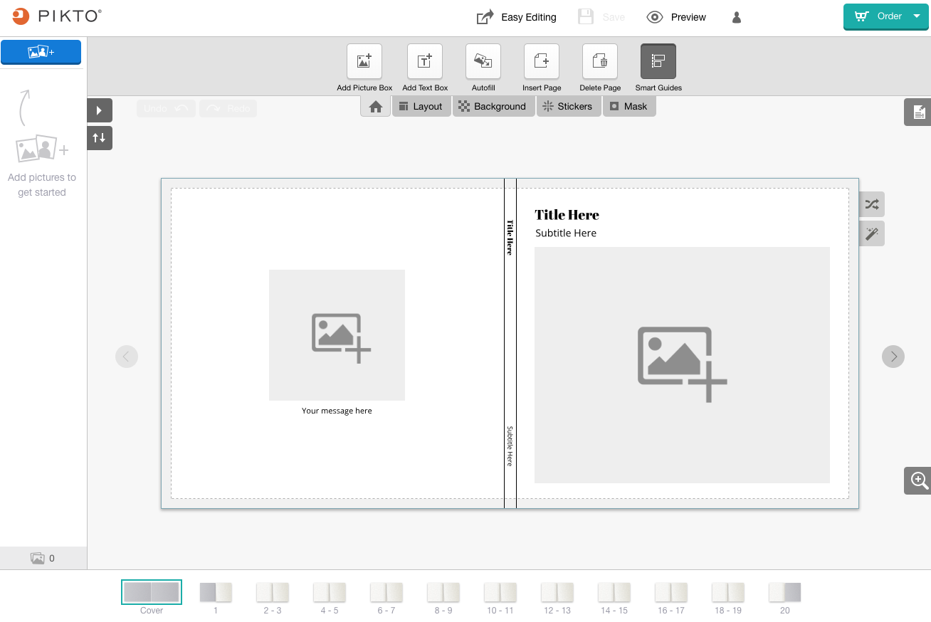 Screenshot of the Advanced Editor on a large screen device.